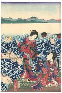 久々浮世絵32 - 風に吹かれてすっ飛んで ノノ(ノ`Д´)ノ ネタ帳