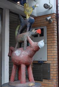 ブレーメンと住吉神社の狛犬さん。 - 明暮日の茶ばしら