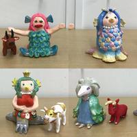 【創作人形講座~プロの博多人形師が教えます~】生徒さんの作品です♪ - ヴォーグ学園天神校ブログ