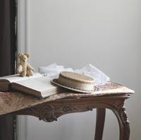 フレンチアンティーク 帽子型の紙箱 アンティークレース 裁縫箱 - clair de lune