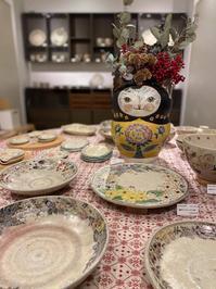 蔵王色のうつわ展 - 元窯・花*花ブログ