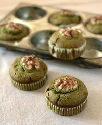抹茶のマフィン 〜 お菓子の香りは幸せの香り - 幸せなシチリアの食卓、時々にゃんこ