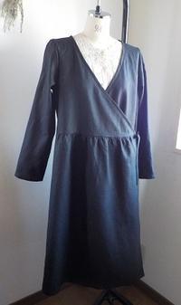 カシュクールワンピースLブラック - yunoのアトリエ