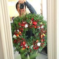 【募集】クリスマスリースレッスン♪ - 東京世田谷区(桜新町) フラワーアレンジメント教室・フラワーギフト メイフェア・フラワーズ