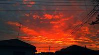 東の空が燃えている!♪・・・2020.11.20の日の出前。その後朝一サイクリングに。7月からの走行距離が3000kmに♪ - 『私のデジタル写真眼』