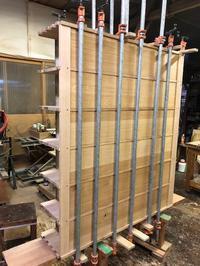 下足棚の組立て。 - 手作り家具工房の記録