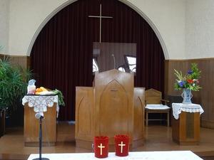 2020年11月22日収穫感謝礼拝&ツリー準備 - 日本ナザレン教団 尾山台教会