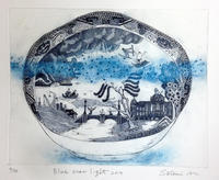 Willow Pattern Year Plate2011〜2014のご紹介 - +P里美の『Bronze & Willow』Etching note