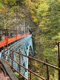 黒部峡谷鉄道トロッコ電車リラックス客車で10月末の渓谷美を楽しみましたー。 - あれも食べたい、これも食べたい!EX