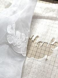 オーガンジーに刺繍② - Atelier Chou