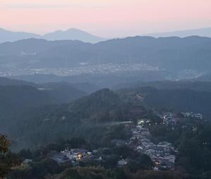 吉野山上千本夕日 -