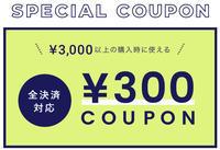 300円OFFクーポンキャンペーンを実施中です!! - カタノハナシ ~エム・エム・ヨシハシ~