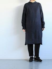 nidoOZ SUPERLONG SLEEVE DRESS / NAVY - 『Bumpkins putting on airs』