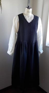 起毛リネンジャンパースカートとウール混素材のパンツ - yunoのアトリエ