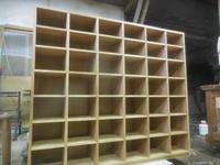 下足箱の塗装。 - 手作り家具工房の記録