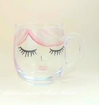 ガラスのマグカップ☆ - Italian styleの磁器絵付け