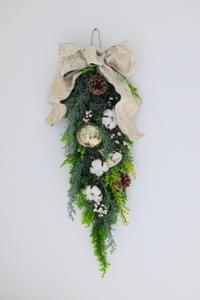 11月のNHK文化センター普通科の花は「クリスマスアレンジ」 - クレッセント日記
