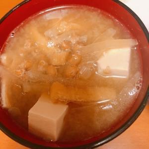 納豆入り味噌汁がうまい -