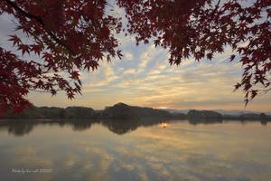 晩秋の朝@ 水上池 - 東大寺が大好き