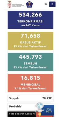 11月29日(日)の集計インドネシア政府発表より - 手相占い 本・水槽・その他