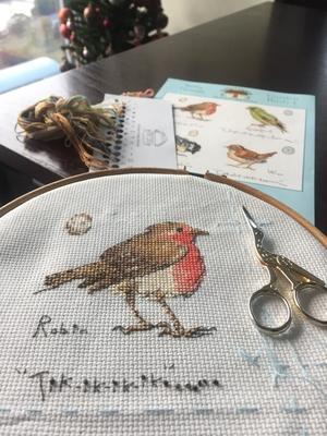 "Kit: ""Garden Birds 1"" Robin 5 - Needlework Note"