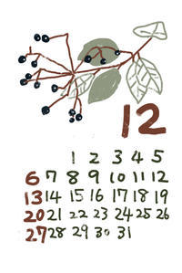 12月のカレンダー - 糸巻きパレットガーデン