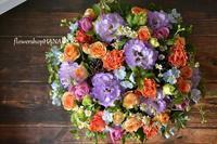 トルコキキョウ「セレブオーキッド」を使ったフラワーアレンジメント。 - 花色~あなたの好きなお花屋さんになりたい~