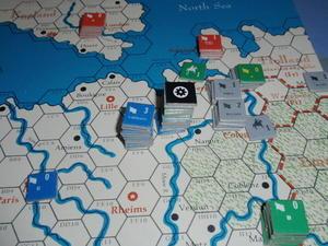 AH「戦争と平和」より「窮地のナポレオン-1814」をソロプレイ③ - マイケルの戦いはまだまだ続く
