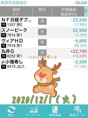 12月スタート!利確は100円~(*^▽^*)♪ - にわか投資家はじめました。