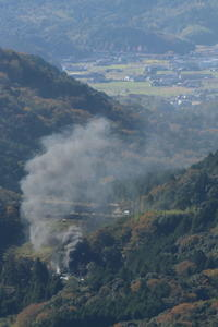 黒い機関車から黒煙立ち上る- 2020年晩秋・山口線 - - ねこの撮った汽車