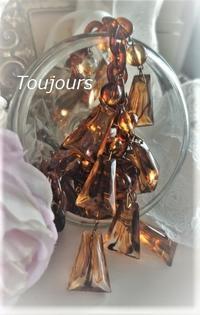 台形ビーズのネックレス - Bijoux  du  Bonheur ~ビジュー ドゥ ボヌール~