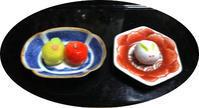 御菓子と土星・木星 - マリカの野草画帖
