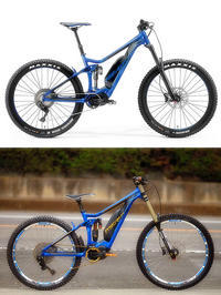 Here's a before and after of my MERIDA eONE-SIXTY II - www.k-bros.org