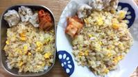 炒飯弁当とおつまみキムチとFit Boxing 2 - オヤコベントウ