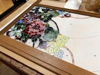 薔薇のパネル2枚目 - ステンドグラスルーチェの日常