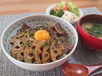 茨城特産品!常陸牛と蓮根 de 贅沢月見牛丼 - candy&sarry&・・・2