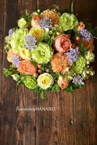 トルコキキョウ「アンバーダブルミント」を使ったプロポーズフラワーアレンジメント。 - 花色~あなたの好きなお花屋さんになりたい~