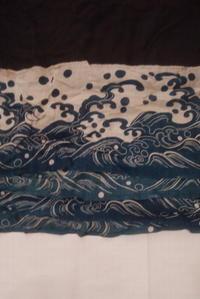 古布木綿高宮布筒描き幕Japanese Antique textile Takamiyafu-hemp Jin-Maku - 京都から古布のご紹介