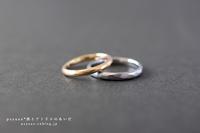 K18イエローゴールドとPT900プラチナのご結婚指輪*静岡県 Y 様 & T 様 - psyuxe*旅とアトリエのあいだ