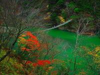 寸又峡秋の「夢の吊り橋」 - 風の香に誘われて 風景のふぉと缶