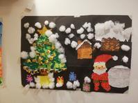 クリスマス貼り絵 - みんなのわが家はるかブログ