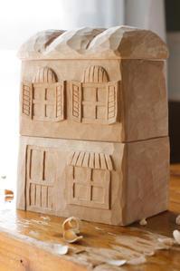 2階建てのパン屋さん - 木の工房るか