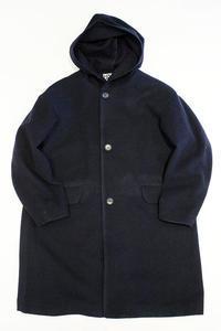 LOLO LIKE (ロロライク)英国羊毛 フード付きロングコート - two things & think Blog