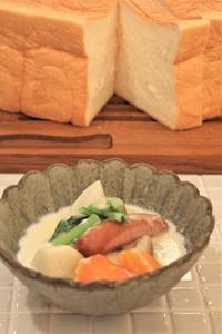 食パンと繊細じゃない野菜ごろごろミルクスープ。。。 - □ □ nuku-nuku □ □