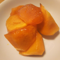冬の楽しみの、柿のブランデー和え - Hanakenhana's Blog