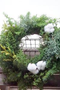 クリスマスリース&スワッグ&ミニツリー3点セット(*^^)v - お花に囲まれて