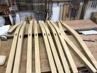 ダイニングチェアの脚加工 - 手作り家具工房の記録