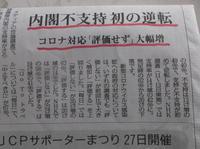 憲法便り#3894:内閣支持率、支持と不支持が初めて逆転!『毎日新聞』調査(11日から13日)で、支持40%(17ポイント減)、不支持49%(13ポイント増)! - 岩田行雄の憲法便り・日刊憲法新聞
