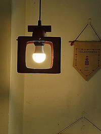 Teak pendant lamp - hails blog