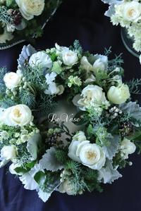 12月Living flower 『Winter wreath』 - Le vase*  diary 横浜元町の花教室